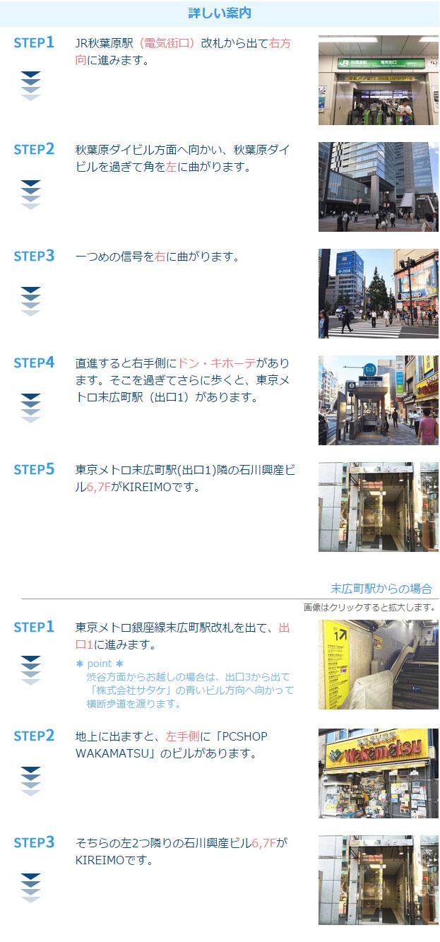 キレイモ秋葉原店アクセス