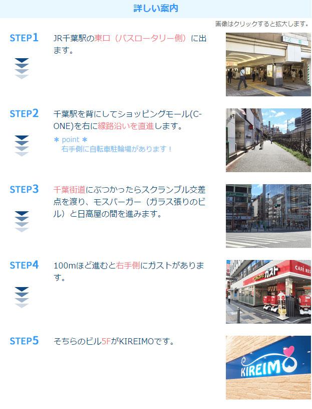 キレイモ千葉店アクセス