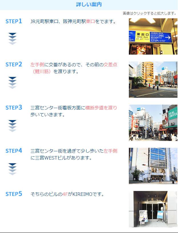 キレイモ神戸元町店アクセス