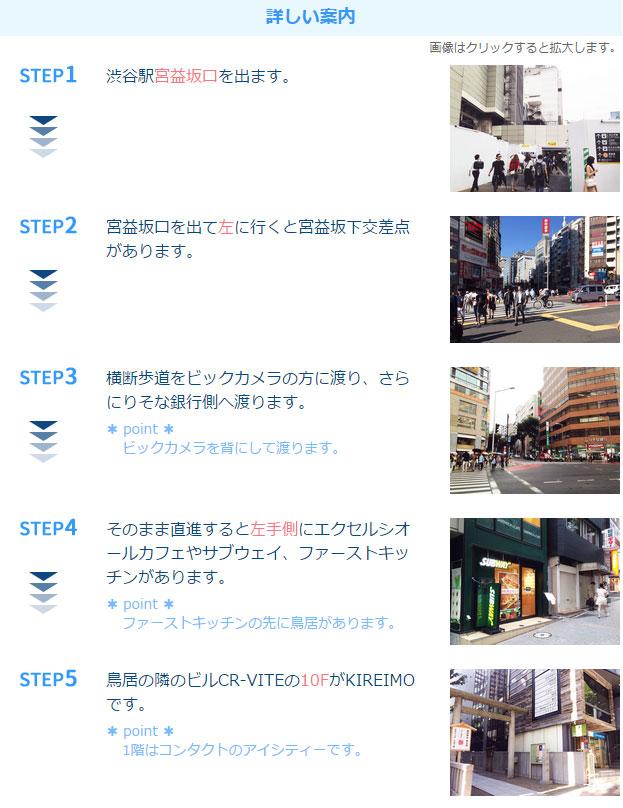 キレイモ渋谷宮益坂店アクセス