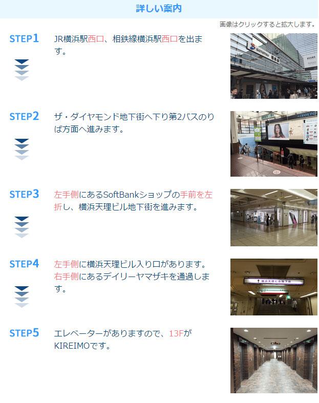 キレイモ横浜駅前店アクセス