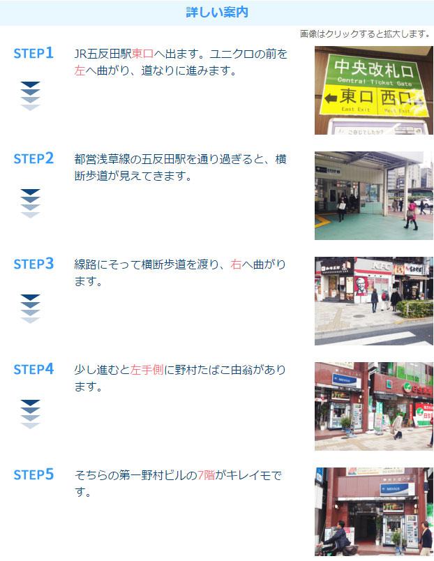 キレイモ五反田店アクセス