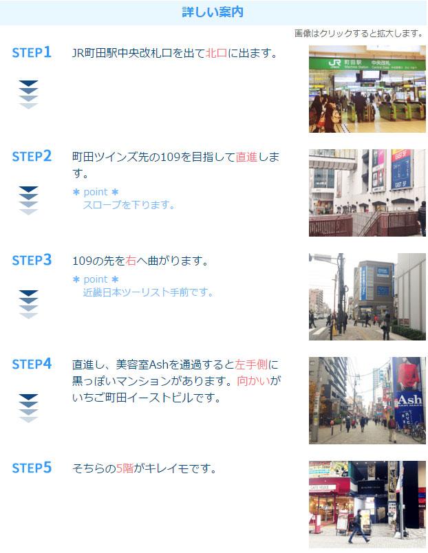 キレイモ町田中央通店アクセス