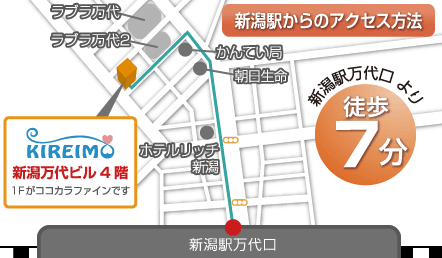 キレイモ新潟店の周辺店舗情報